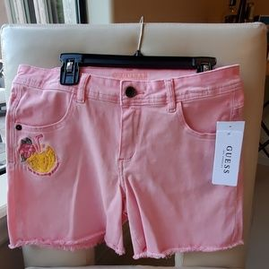 New Guess embroidered shorts